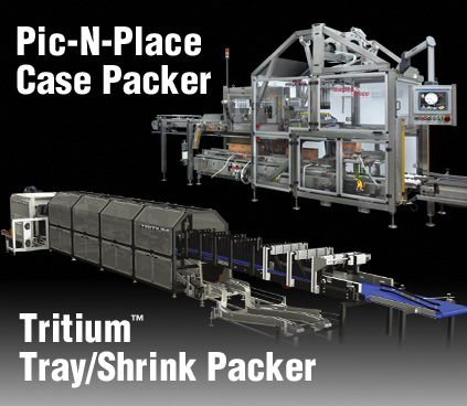 Standard-Knapp to Highlight the 939S Pic-N-Place Case Packer and 298 Tritium Trayshrink Packer at Pack Expo
