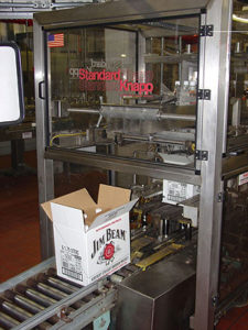 The soft-catch capabilities of the Versatron 939s Case Packer makes it a perfect fit for Jim Beam's line of cordials.