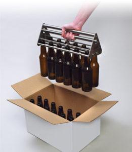 Unloading empty bottles