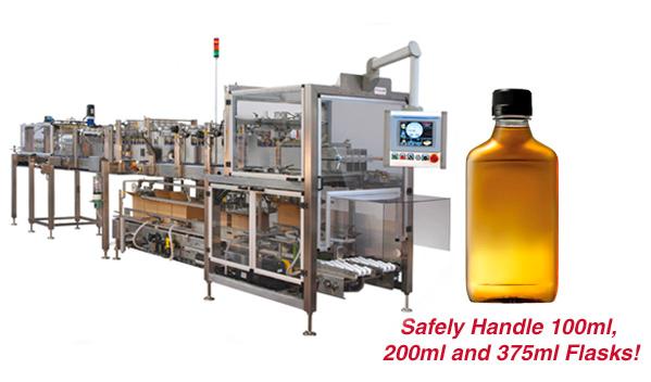 Flask Handling Capability for the 939 Versatron™ Case Packer