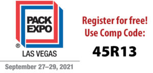 Free registration for Pack Expo: Comp Code: Code 45R13